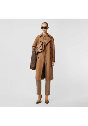 Burberry Cashmere Trench Coat, Size: 02, Brown