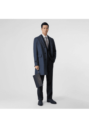 Burberry Wool Cashmere Lab Coat, Size: 44, Blue