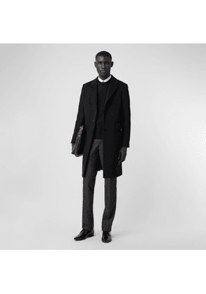 Burberry Wool Cashmere Tailored Coat, Size: 44, Black