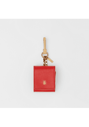 Burberry Grainy Leather Earphone Case, Red