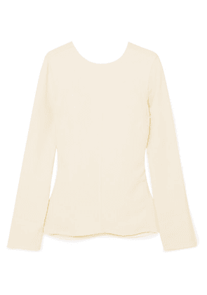 Victoria Beckham - Open-back Textured-crepe Top - Ivory