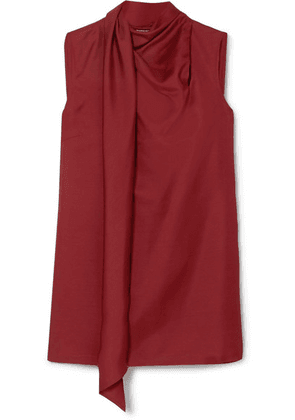 Ann Demeulemeester - Draped Wool And Silk-blend Tank - Red