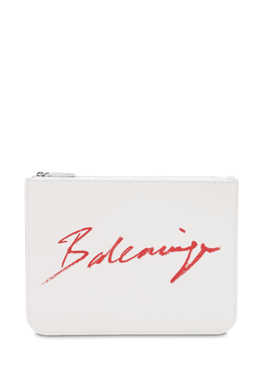 Lipstick Printed Logo Leather Pouch