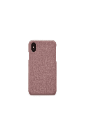 Mulberry iPhone X/XS Cover in Mocha Rose Small Classic Grain