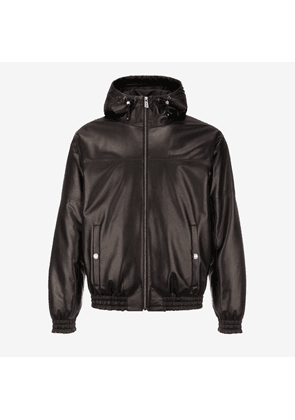 Mens Insulated Leather Hoodie