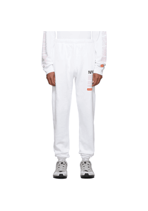 Heron Preston White Fleece Lounge Pants