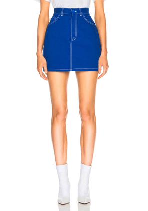 Givenchy Workwear Mini Skirt in Blue - Blue. Size 36 (also in ).