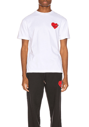 Palm Angels Pin My Heart Tee in White & Multi - White. Size M (also in L,XL).