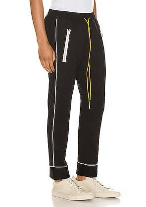Rhude Smoking Pant in Black & White - Black. Size M (also in L,S).