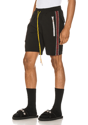Rhude Traxedo Shorts in Black & Red - Black. Size M (also in L,S).