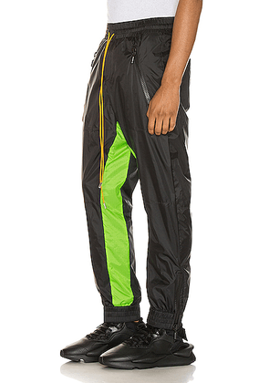 Rhude Flight Suit Pant in Black & Neon Green - Black,Green. Size M (also in L,S,XL).