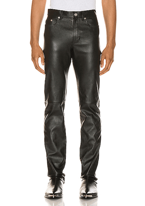 Saint Laurent Leather Pant in Black - Black. Size 46 (also in 48,50,52).