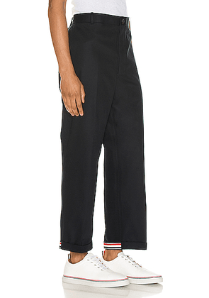 Thom Browne Cuffed Chino Pants in Navy - Blue. Size 0 (also in 2,3,4,5).