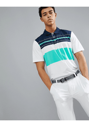 Adidas Golf ultimate 365 engineered polo in white stripe cf7991
