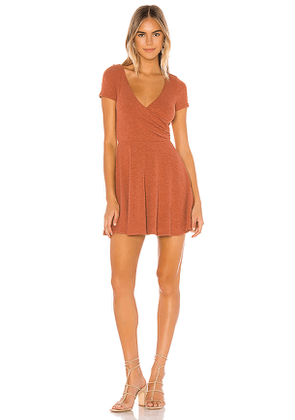 Privacy Please Demi Mini Dress in Burnt Orange. Size L,M,S,XL,XS.
