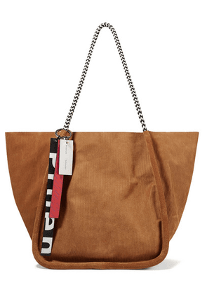 Proenza Schouler - Large Leather-trimmed Suede-corduroy Tote - Tan
