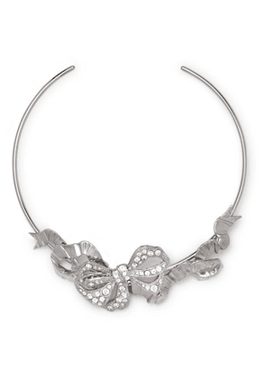 Paco Rabanne - Silver-tone Crystal Choker - one size