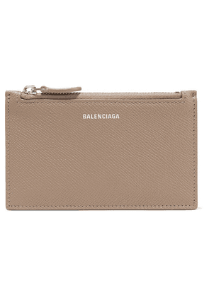 Balenciaga - Ville Printed Textured-leather Cardholder - Mushroom
