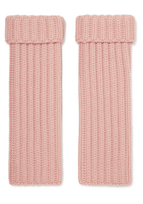Loro Piana - Ribbed Cashmere Wrist Warmers - Baby pink