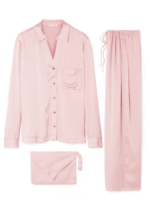 Skin - Washed Silk-satin Pajama Set - Blush