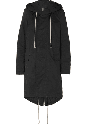 Rick Owens - Hooded Faille Parka - Black