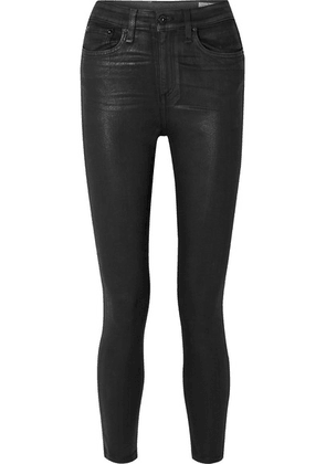 rag & bone - Nina Coated High-rise Skinny Jeans - Black