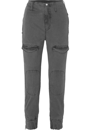 RtA - Harlan Stretch-cotton Twill Tapered Cargo Pants - Gray