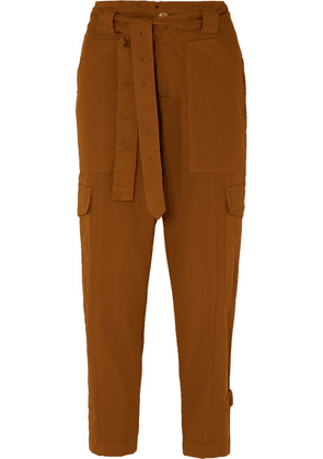 Alex Mill - Expedition Belted Stretch-cotton Twill Slim-leg Pants - Camel