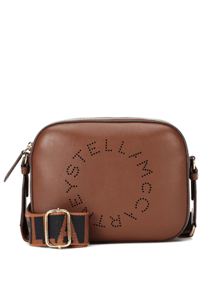 Logo faux leather shoulder bag