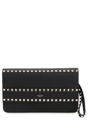 Rockstud Smooth Leather Pouch