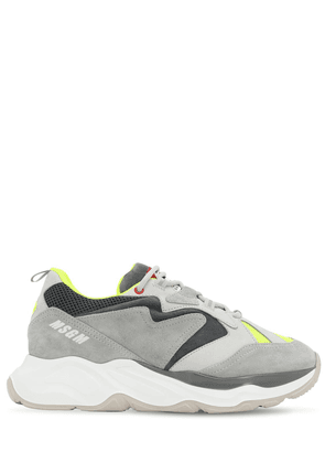 Chunky Mesh & Suede Sneakers