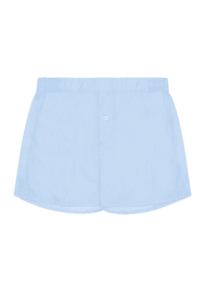 Sky Blue Cotton-Twill Boxer Shorts