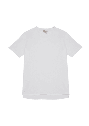White Cotton Jersey Alaric T-Shirt