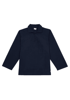 Navy Cotton Guilvinec Fisherman's Shirt