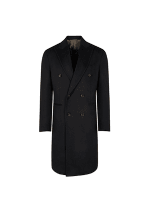 Black Wool Double-Breasted Pignatelli Coat