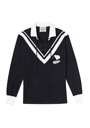 Black and White Cotton New Zealand Rugby League Authentic Heavyweight Rugby Jersey