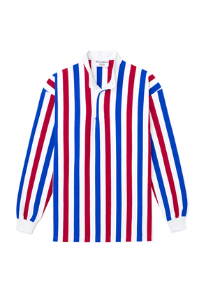 Red, White and Blue Cotton Old School Soccer Shirt