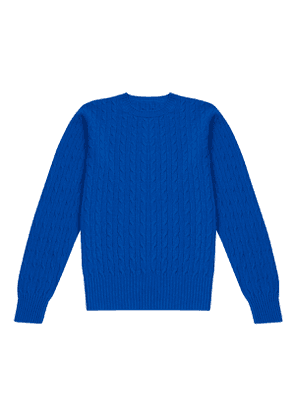 Indigo Cable-Knit Lambswool Sweater