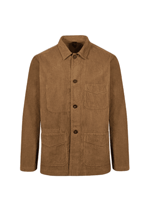 Brown Cotton Canvas Five-Pocket Chore Jacket