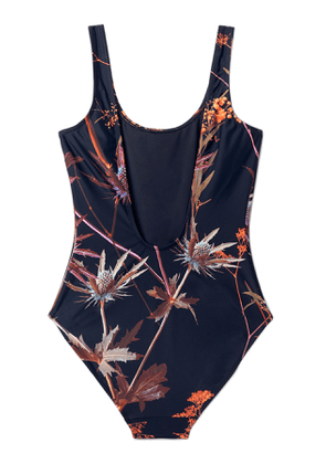 Day Printed Swimsuit - Black