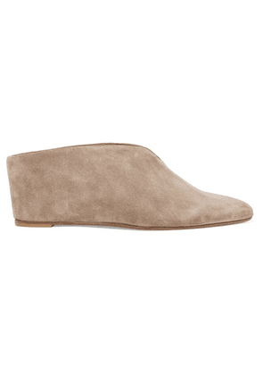 Vince - Kai Suede Wedge Mules - Taupe