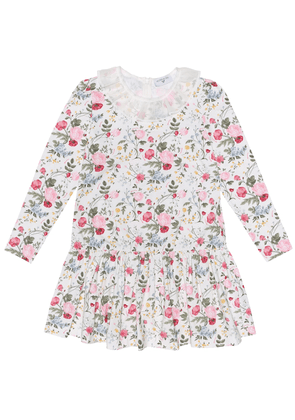 Floral stretch-cotton dress