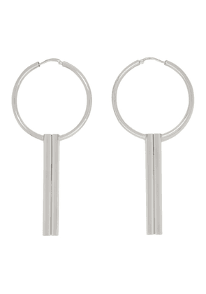 Dheygere Silver Canister Hoop Earrings