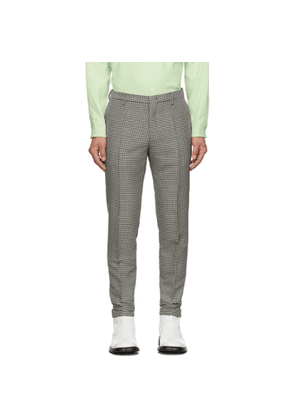 Paul Smith Black and White Houndstooth Trousers