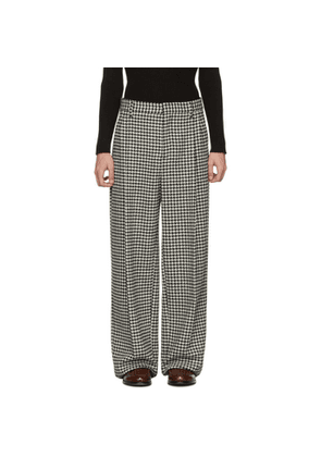 Loewe Black and White Houndstooth Pleated Trousers
