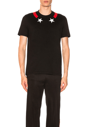 Givenchy Star Neck T-Shirt in Black - Black. Size L (also in ).