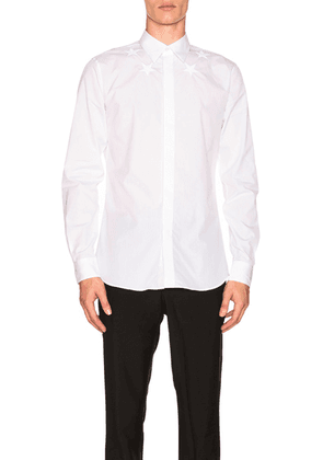 Givenchy Collar Star Shirt in White - White. Size 37 (also in ).