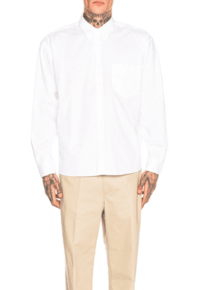JACQUEMUS Long Sleeve Simon Shirt in White - White. Size 50 (also in ).