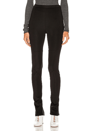 Proenza Schouler PSWL Straight Leg Pant in Black - Black. Size XS (also in S,M,L).