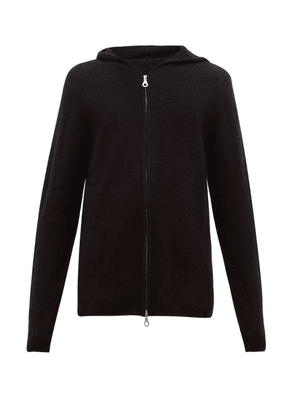Denis Colomb - Two Way Zip Cashmere Hooded Sweater - Mens - Black